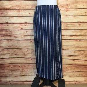 Vintage Susan Bristol Striped Denim Maxi Skirt